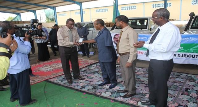 Remise de Clefs pour 4 véhicules dans le cadre Assistance humanitaire pour les réfugiés du Yemen