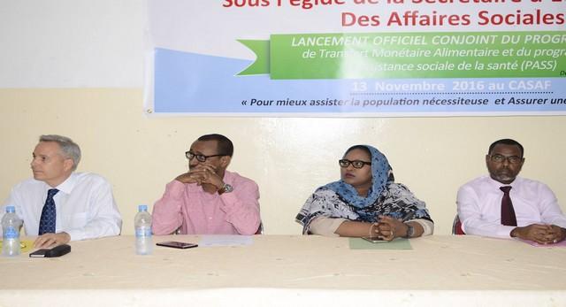 Lancement des programmes Transfert monétaire du Programme d'Assistance Sociale